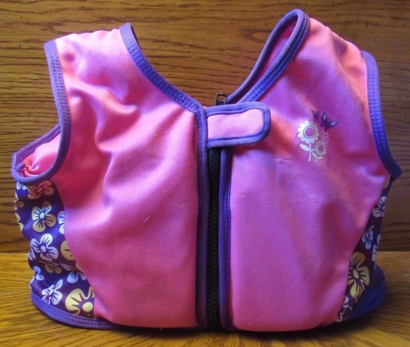 Sun & Sky Kids Pink Purple Swimming Floating Vest Size L Chest Size 27-28