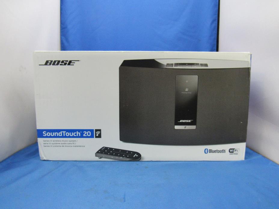 Bose SoundTouch 20 Series III Wireless Speaker - Black - NEW