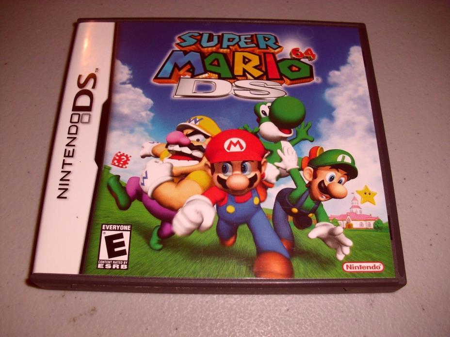 Nintendo DS Super Mario Bros 64 Gameboy Video Game Toy Console Luigi 3-D Yoshi
