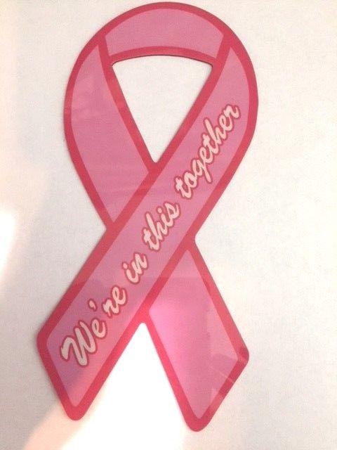 Pink Ribbon Magnet (for car or metal)