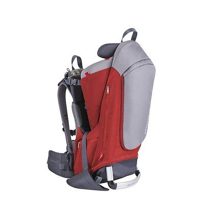 Phil & Ted's Escape Grey & Red Baby Carrier Seat Outdoor Hiking Backpack