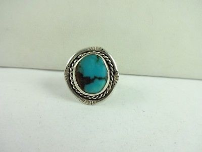 Vintage Sterling Silver Native American  Ring Size 7.5