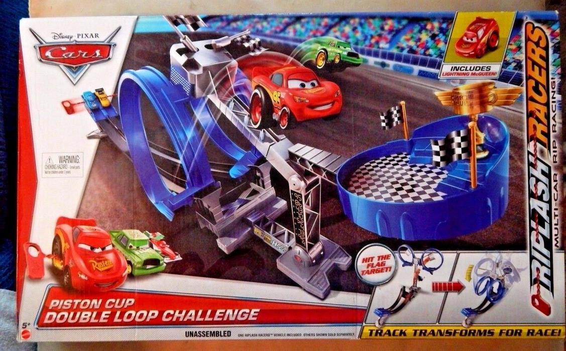 Mattel Disney Pixar Cars Piston Cup Double Loop Challenge Track Set