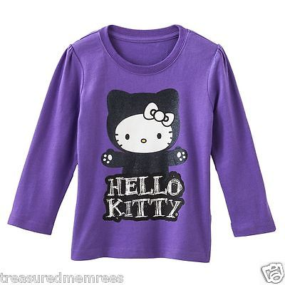 Hello Kitty Glittery Long Sleeve Tee Shirt ~ Size 2T ~ New With Tags