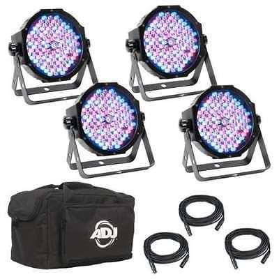 ADJ Mega Flat Pak Plus LED RGB UV Mega Par Profile System w/ Bag (Refurbished)