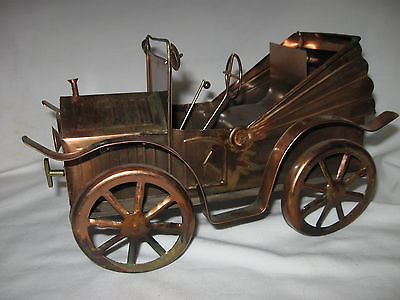 Ford Model-T Coupe 100% Hand Crafted Copper Music Box/Car Plays-