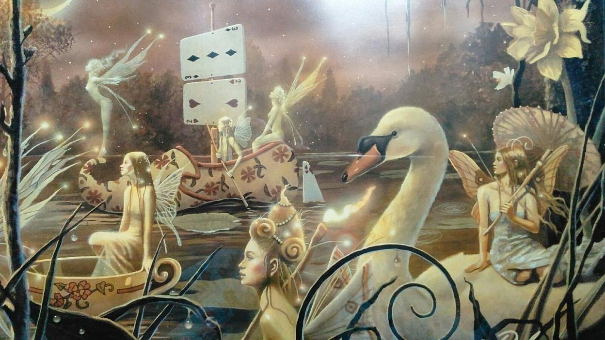 Four Fairy Procession Prints 2005 Framed Signed by David Delamare 10