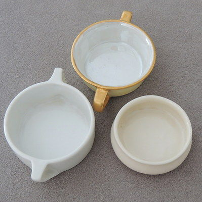 Tableware Salt Cellar Open Salts Porcelain R S Germany Lenox White Gold Lot of 3