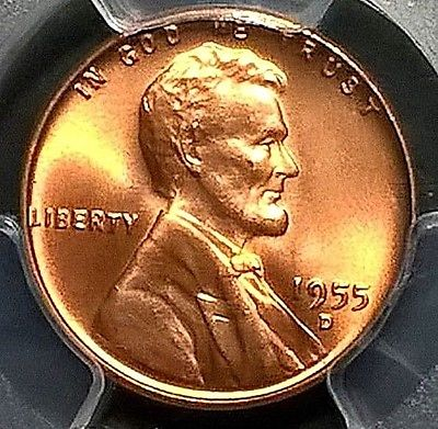 1955-D  Lincoln Cent  PCGS MS66+RD  CAC
