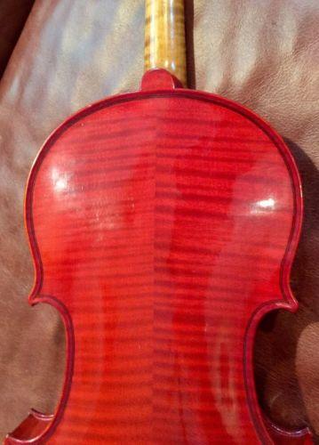Vintage Czech Stradivarius Violin Highly Flamed Back Sides Nice