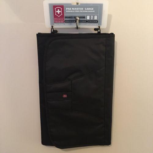 New Victorinox PAK MASTER SYSTEM Black Shirt Folding Travel Board Large