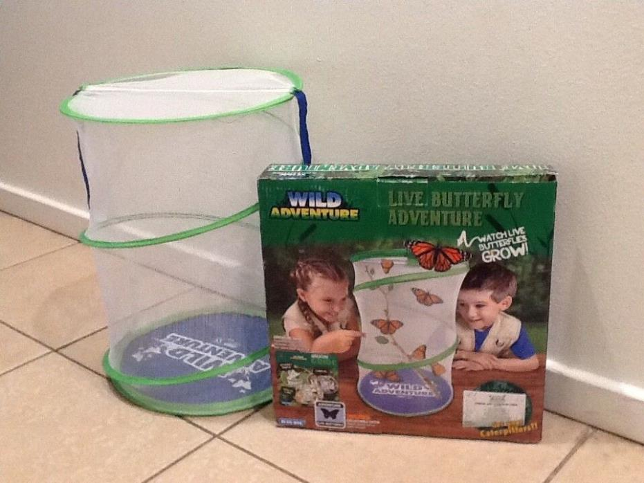 Wild Adventure - Blue Box Live Butterfly Habitat ~ Caterpillars are NOT included