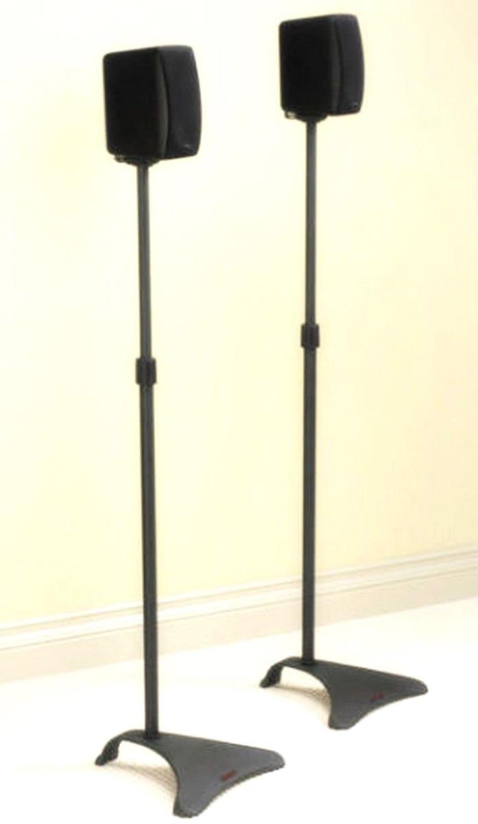 Atlantic Universal Adjustable Satellite Speaker Stands - Titanium, Pair