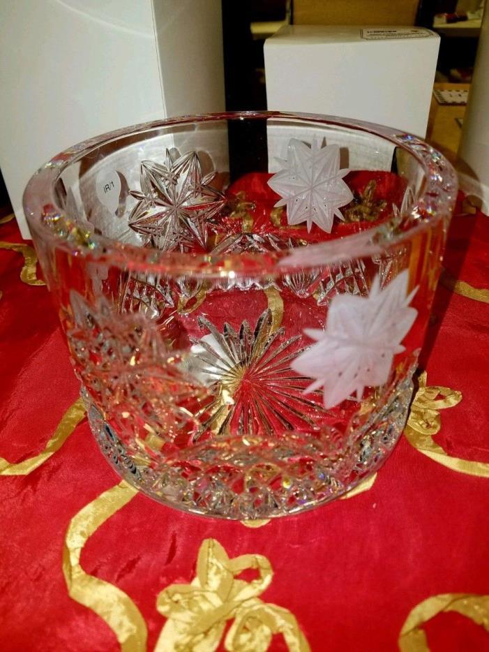 NEW Waterford Crystal Snowflake Wine Coaster NIB Retail $375 BIN $149 Free SHIP