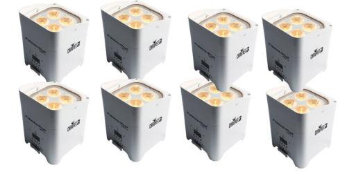 Chauvet DJ Freedom Par Hex 4 Wireless DMX LED Up-Light (White) - 8 Pack