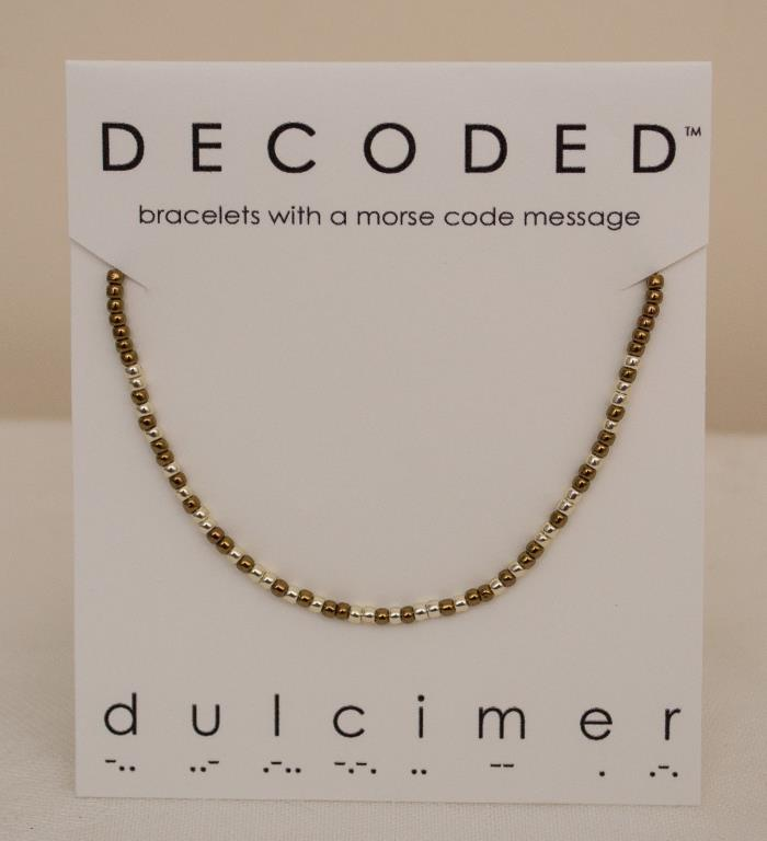 Made-in-the-USA Adjustable Morse Code Dulcimer Bracelet by Shannon Curtis