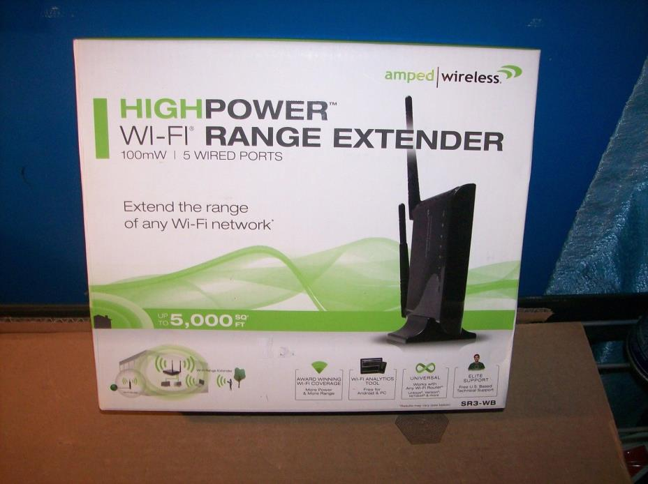 AMPED WIRELESS MODEL SR3-WB HIGH POWER Wi-Fi  EXTENDER