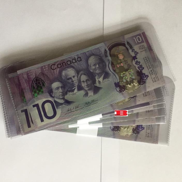2017 Canada 150 - 10 Dollar Polymer(Lot of 10) - Prefix CDB - UNCIRC - CONSEC