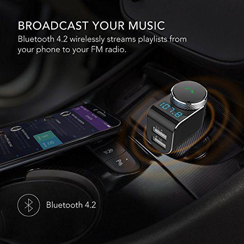 Car Locator Smart Charge Car Kit Wireless In Car  FM Transmitter Radio BLACK NEW