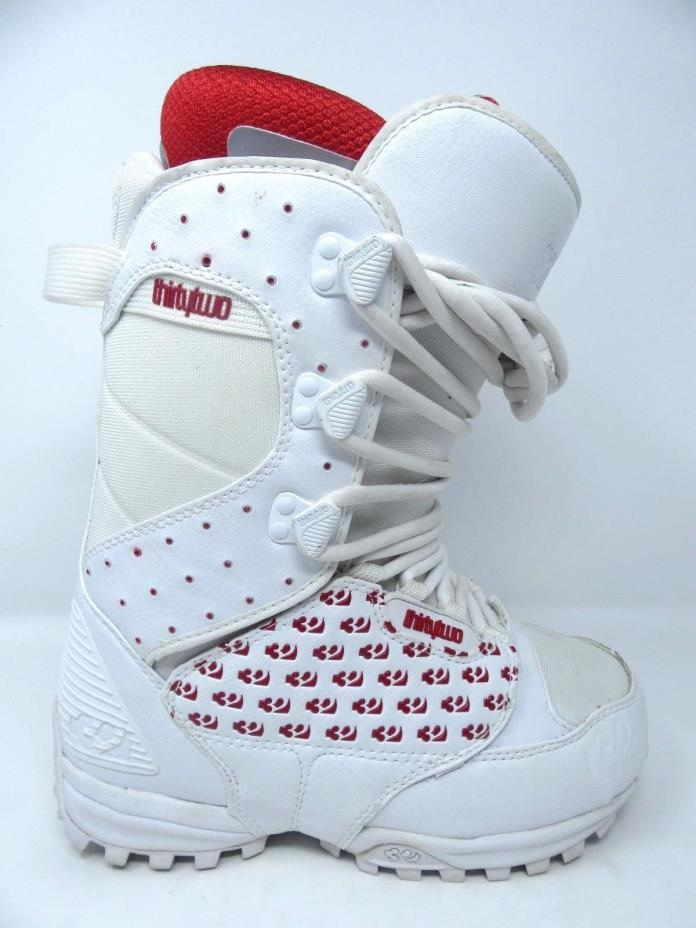 ThirtyTwo 32 - Lashed  - Womens Snowboard Boots | White & Red | Size 6