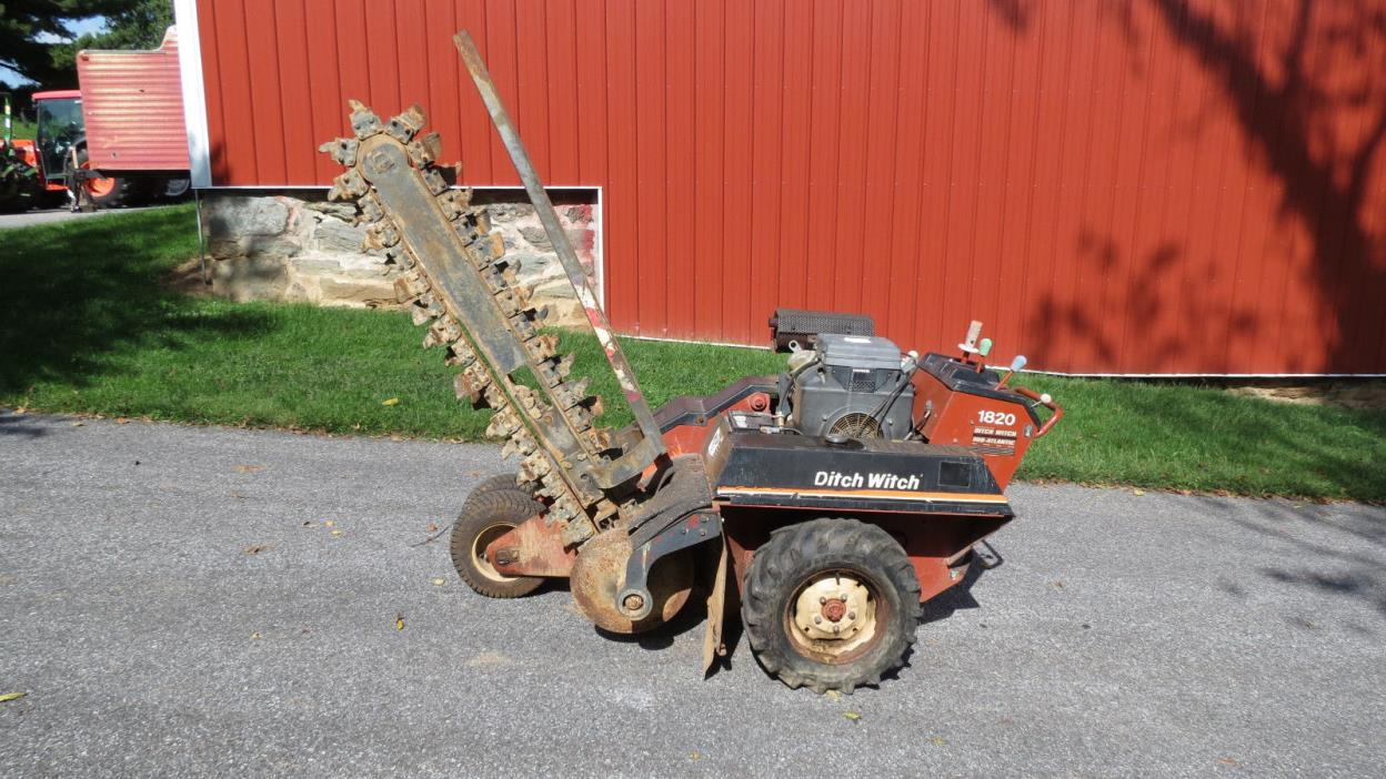 2003 DITCH WITCH 1820HE WALK BEHIND TRENCHER 60
