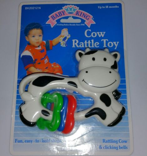Baby King Cow Rattle Brand new in Package