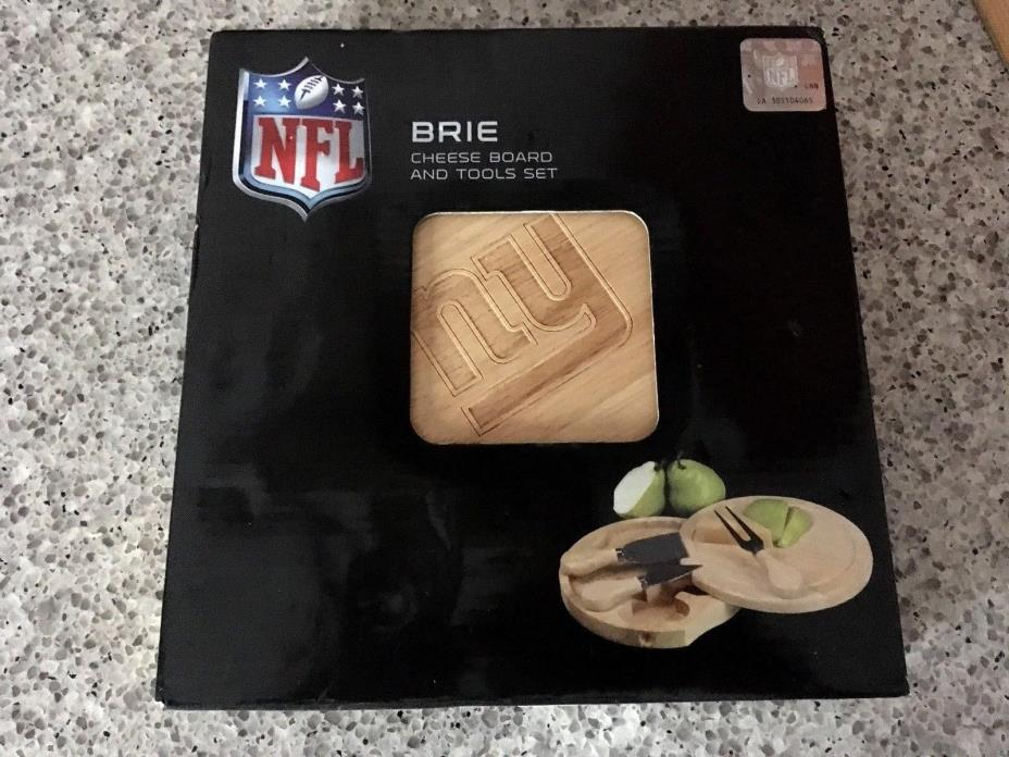 NFL NY New York Giants Brie Cheese Board Serving Set 7-1/2in Cutting Boards New
