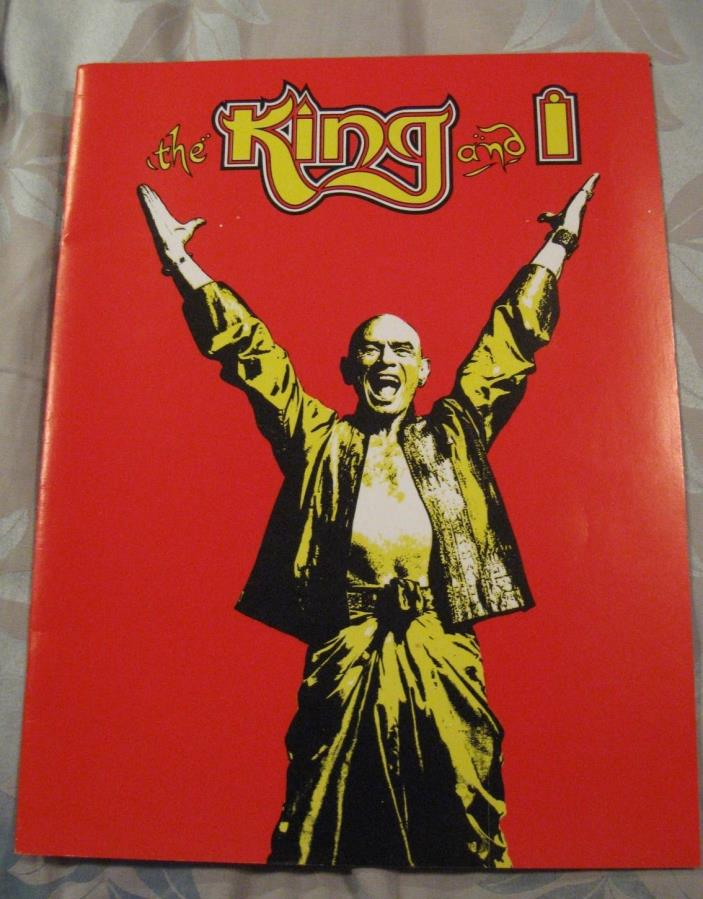 The King & I Yul Brynner Program Printed USA Rogers Hammerstein 1981
