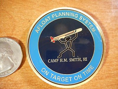 Afloat Planning System Tomahawk Cruise Missile Camp Smith USN CPO Challenge Coin