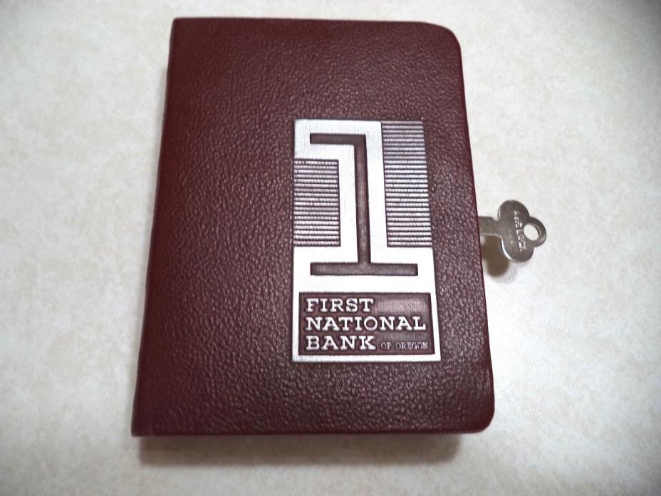 BANKERS UTILITIES BOOK BANK  W/ KEY FIRST NATIONAL BANK of OREGON VINTAGE BANK