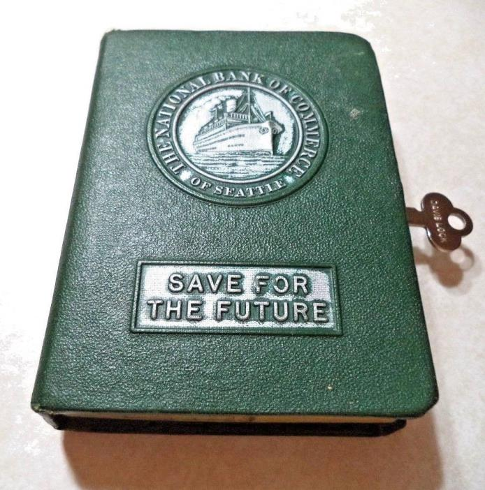 BANKERS UTILITIES BOOK BANK  W/ KEY FIRST NATIONAL BANK of SEATTLE VINTAGE