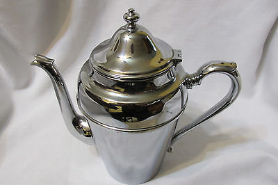 Vintage Art Deco Chromium CROMWELL Silver Mfg, Corp. Teapot/Coffee Pot Server