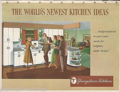 1951 Mullins YOUNGSTOWN KITCHEN Ideas Metal CABINETS Budget Features VTG Catalog