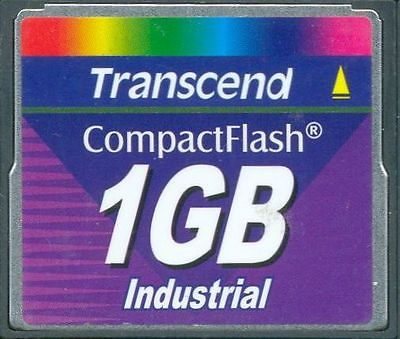 Qty 4 Transcend 1GB Industrial Compact Flash Card CF for Router or CNC