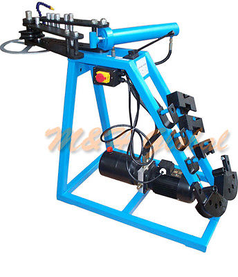 Industrial Electric 10 Ton Hydraulic Pipe Tube Bender Metal bending w/ 3 Dies