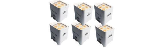 Chauvet DJ Freedom Par Hex 4 Wireless DMX LED Up-Light (White) - 6 Pack