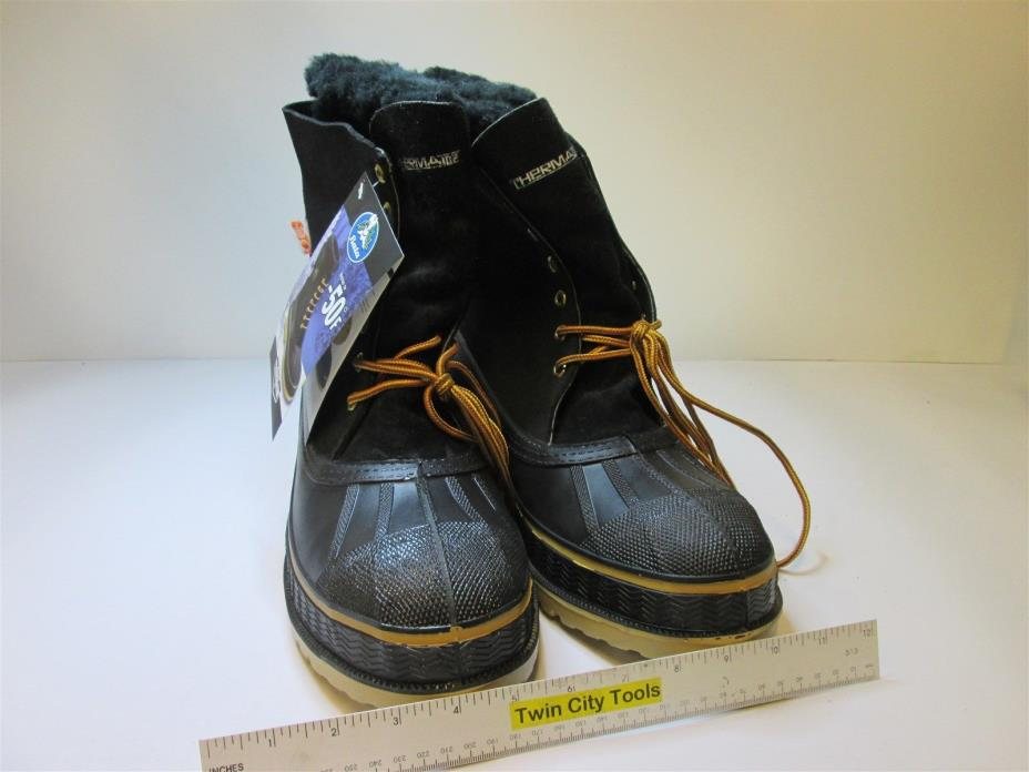 Bata 86392 Leather/Rubber Therma Toe Boots Size 12 Tested For -50 Deg F New