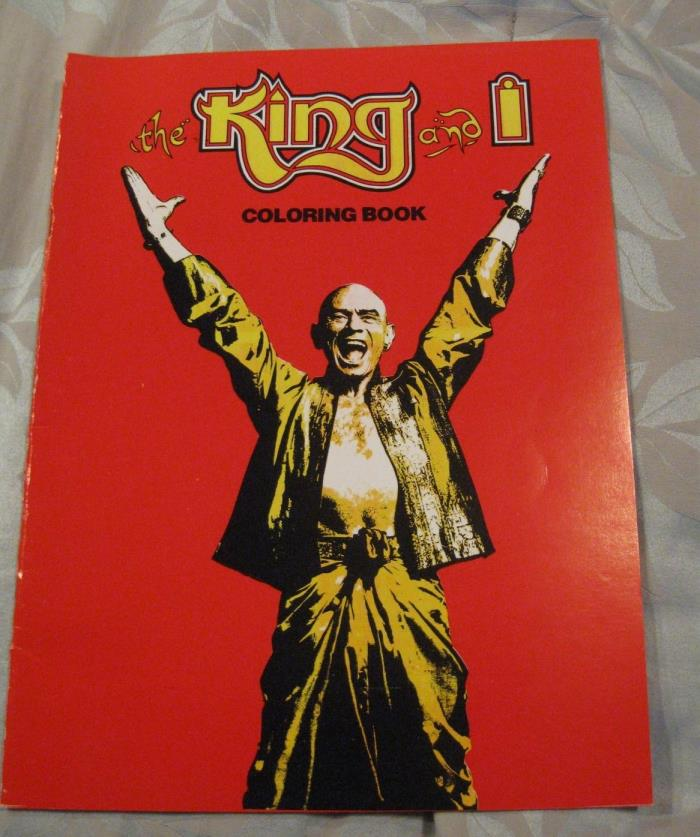 The King & I Yul Brynner Coloring Book Printed USA Rogers Hammerstein 1981