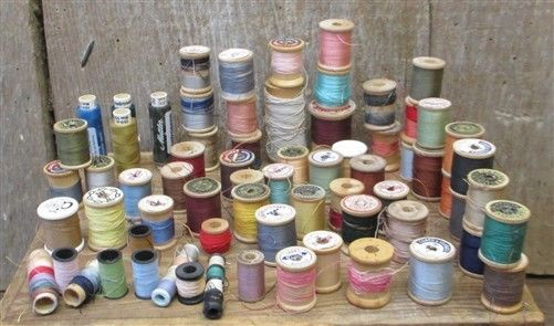 Over 60 Spools Thread Sewing Notion Cotton Coats Clark's Wood Lot j FREE SHIP US