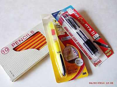 SCHOOL / OFFICE SUPPLIES - PENS - PENCILS -  HI-LITER