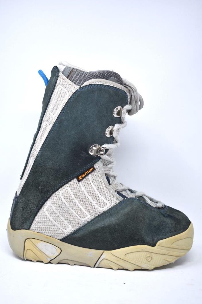 Men's Burton Ruler Snowboard Boots Green Gray sz 8