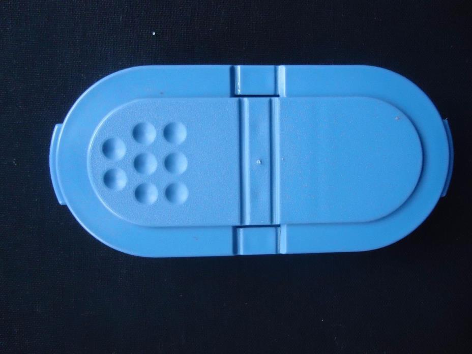Tupperware Spices Salt Pepper Shakers Blue Lids 1843 Replacements