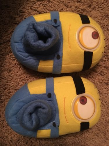 Despicable Me Minions Kids Stuart Sock Top Slippers (7/8 M US Toddler)