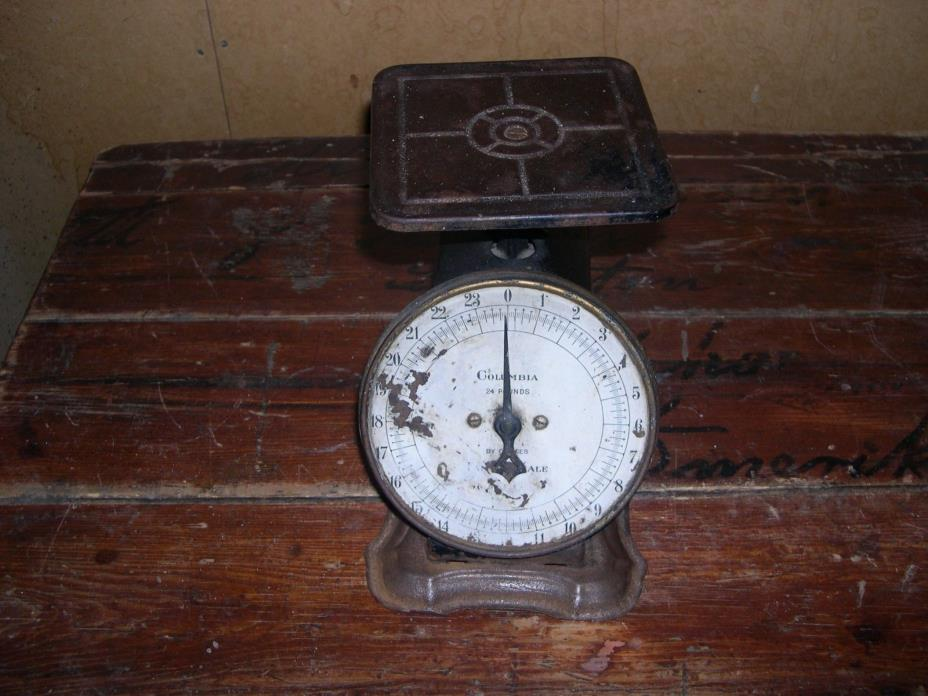 Antique JANNEY SEMPLE HILL & Co Columbian Family Scale (Works)