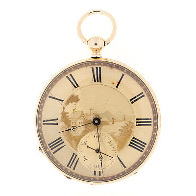 Swiss 18K Solid Gold 15 Jewel  Pocket Watch 137 Year Old