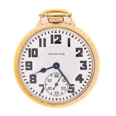 Hamilton 992E  Elinvar 21 Jewel Gold Filled Railroad Pocket Watch Original Box