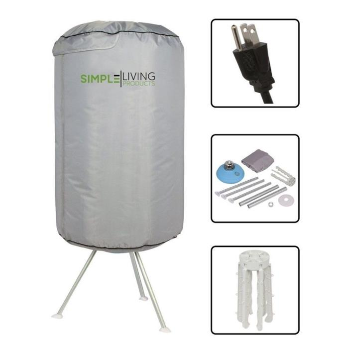 Simple Living Products Collapsible Electric Round Portable Clothes Dryer - 10KG