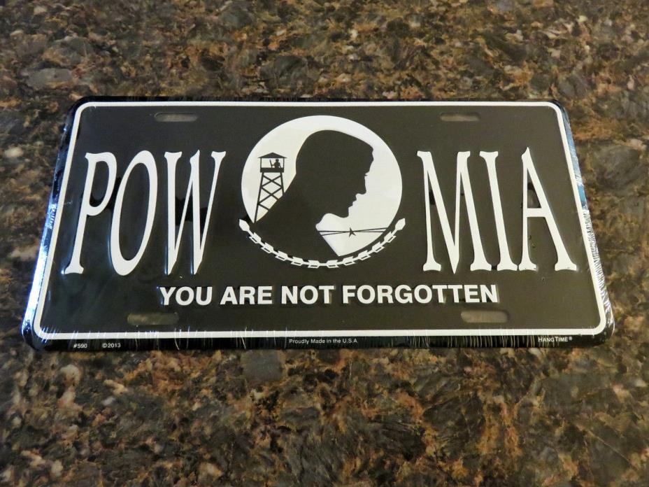 NEW POW-MIA You Are Not Forgotten Metal License Plate