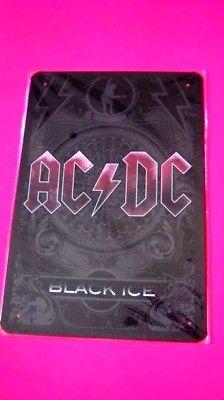 Metal tin ROCK Group SIGN, Wall Decor Garage Home poster ( AC/DC Black Ice)