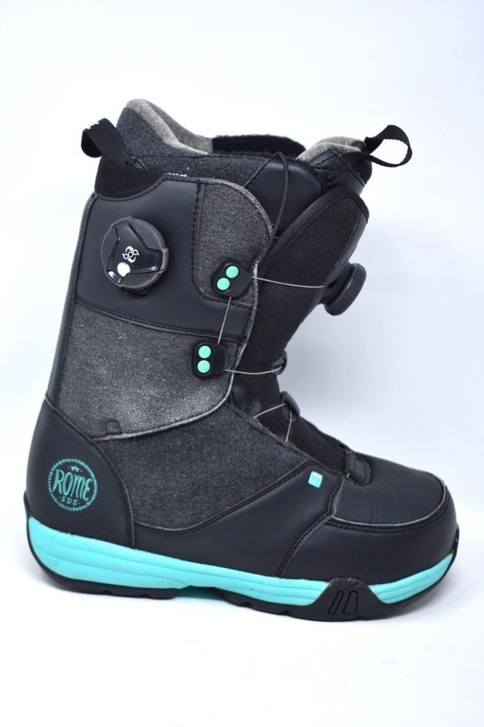 Rome SDS BOA Memphis  Women's Snowboard Boot Black Blue 7